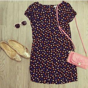 60s mod vintage style polka dot dress